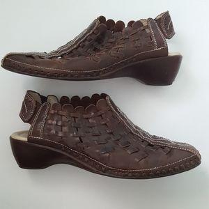 Pikolinos Romana Woven Leather Sandals